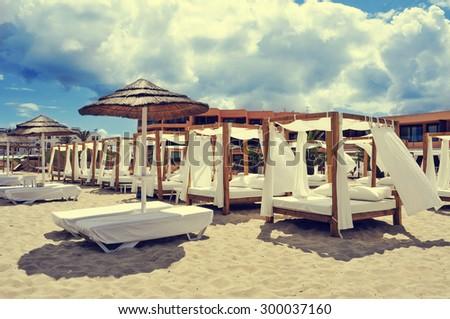 Sands Beach Club Ibiza Beach Club in a White Sand