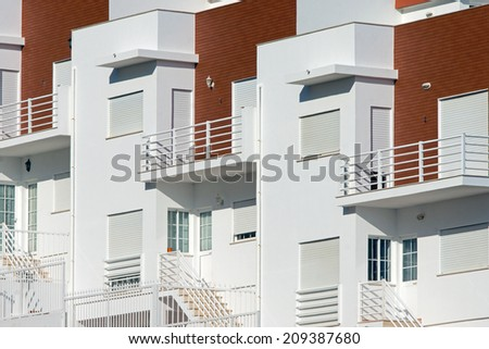 Detail of some holiday flats - stock photo
