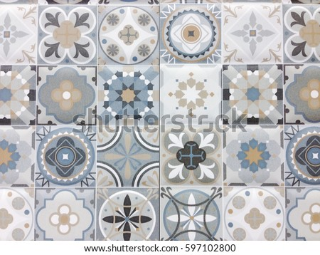 Detail Some Typical Portuguese Tiles Ceramic Stock Photo (Royalty ...