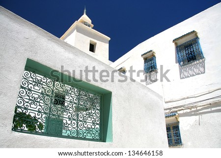 Detail of Sousse street in Tunisia - stock photo