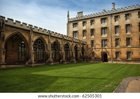 Detail of St. John`s College. - stock photo