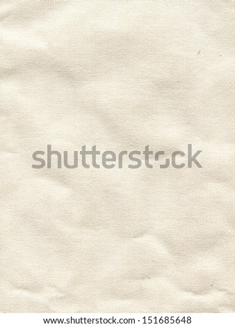 Detail of surface white canvas - stock photo