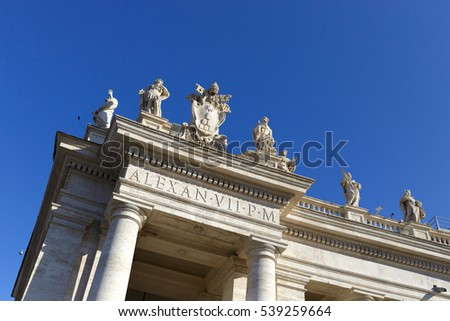 Detail of the architecture in the Vatican