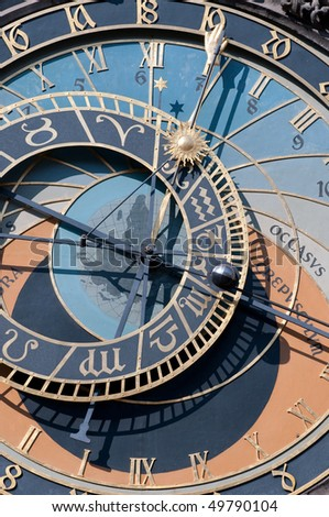 Detail of the astronomical clock in Prague, Czech republic