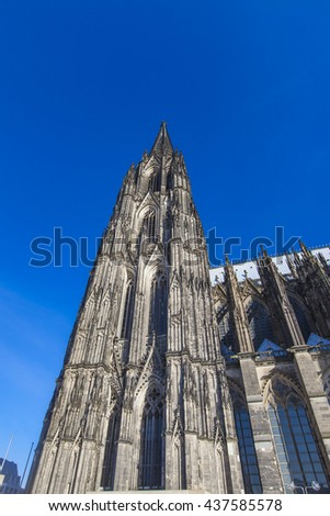 Detail of the Cologne Cathedral in Germany - stock photo
