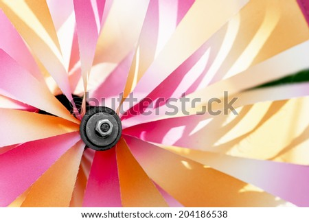 Detail of the colorful pinwheel. - stock photo