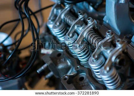 Detail of, the engine car - stock photo