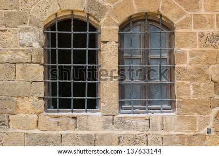 Detail of the Facade in Jaffa, Israel - stock photo