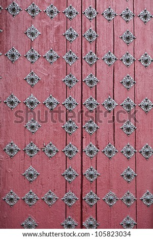 Detail of the main door of the New Cathedral (Catedral Nueva) in Salamanca, Spain - stock photo