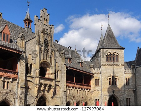 detail of the Marienburg Castle in Lower Saxony (Germany)