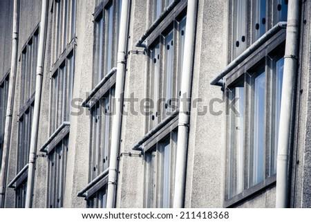 "Detail of the Radio Kootwijk building in National Park ""De Hoge Veluwe"" - stock photo"