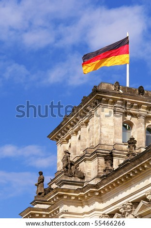 Detail of The Reichstag, the German Parliament, in Berlin, Germany - stock photo