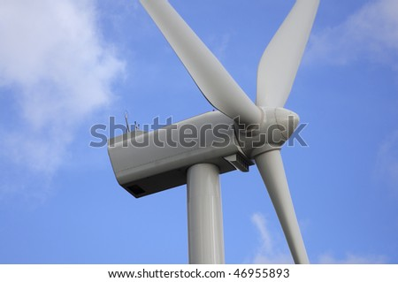 detail of the rotor of a windmill to produce electricity