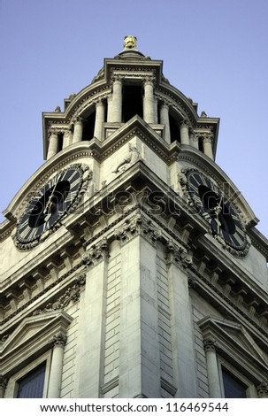 Detail of the Saint Paul's Cathedral at LOndon, England - stock photo