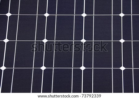 Detail of the Solar Power Panel