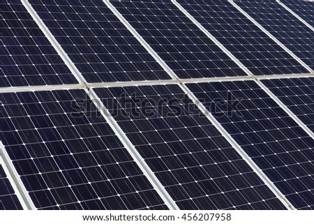 Detail of the Solar Power Station - stock photo