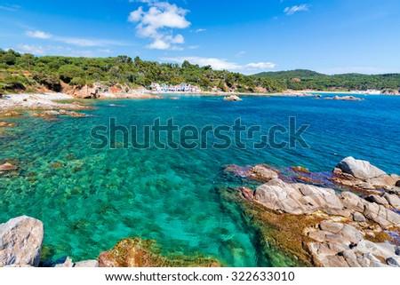 Detail of the Spanish coast (Costa Brava,Fosca) - stock photo