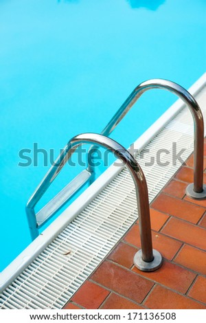 detail of the swimming pool - stock photo