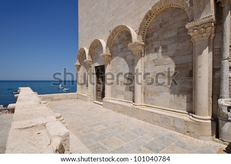 Detail of the Trani cathedral - Apulia, Italy.