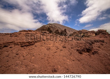 Detail of the Vesuvius crater, Naples, Italy - stock photo