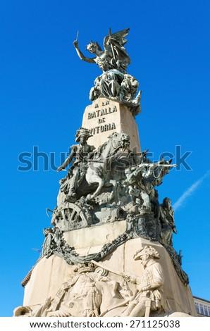 Detail of the Vitoria Battle monument, Vitoria, Spain. - stock photo