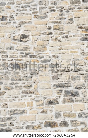 Detail of the wall made of stone - stock photo