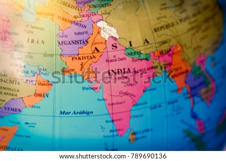 Detail world map asia india stock photo royalty free 789690136 detail of the world map of asia and india gumiabroncs Images