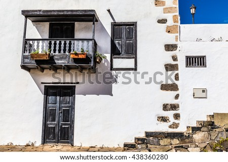 Detail Of Traditional Spanish House - Betancuria, Fuerteventura, Canary Islands, Spain