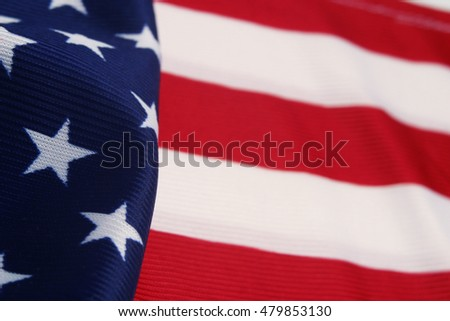 Detail of USA flag Stripes