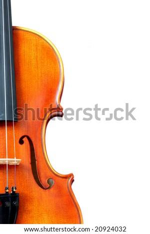 Detail of violin - stock photo