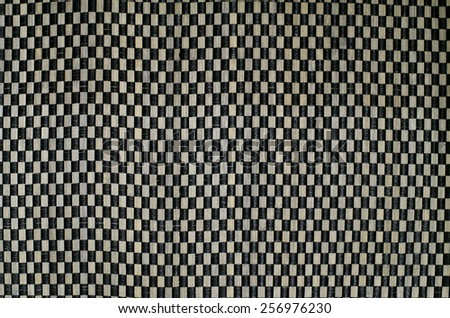 Detail of weaving wood table as background - stock photo