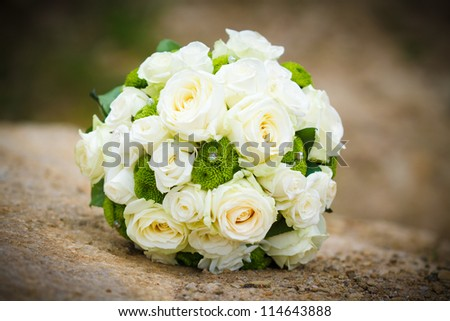 Detail of wedding bouquet - stock photo