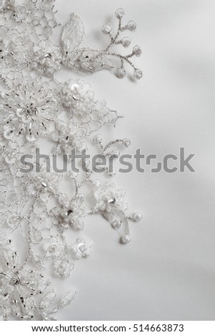 Detail of wedding dress - beautiful lace