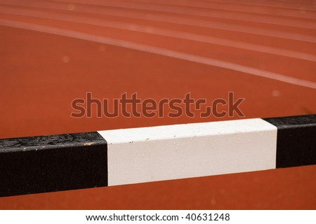 detail of wet athletic hurdle - stock photo