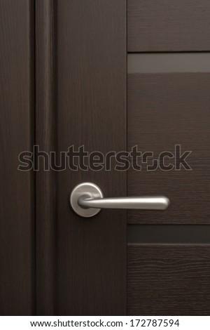 Detail of wooden door - stock photo