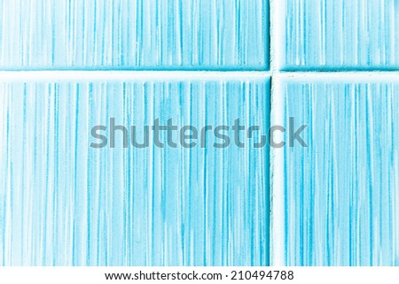Detail pattern of blue wall tile background - stock photo