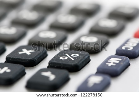 Detail percentage key of a calculator - stock photo