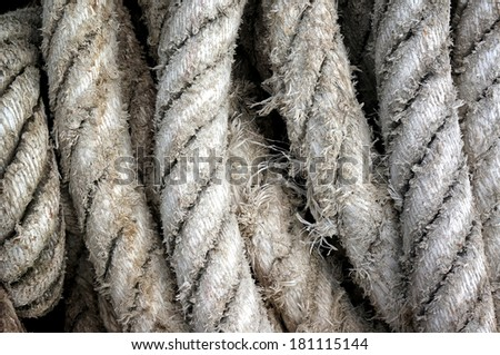 Detail rope ship Background - stock photo