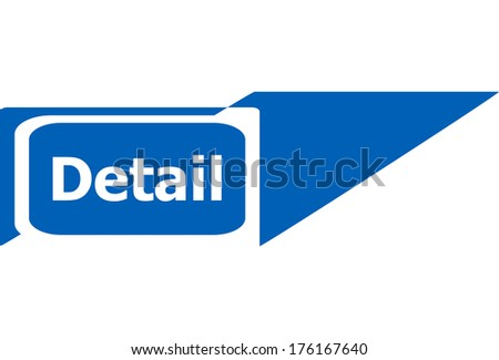 detail sign web icon button, business concept - stock photo
