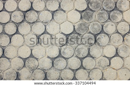 Detail Stone pathway in the garden, Top view - stock photo