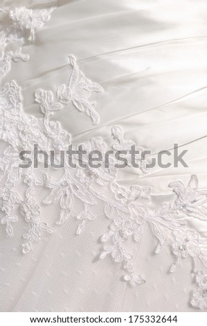 detail the substance of wedding dresses - stock photo