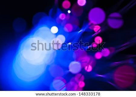 detail view of different defocused colorful light dots - stock photo
