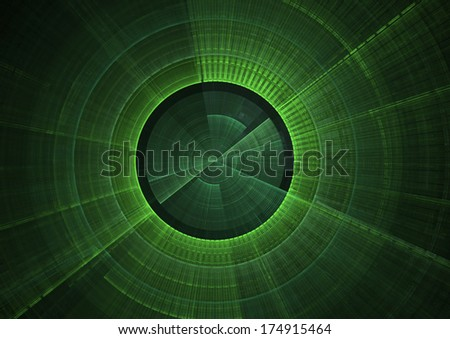 Detail view of green radar screen - stock photo