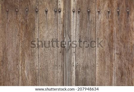 detail wood doors - stock photo