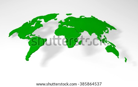 Detail world map