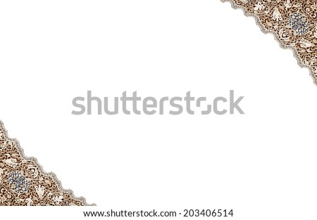 Detailed background of the patterns on a wall of   Alhambra Palace, Granada, Spain - stock photo
