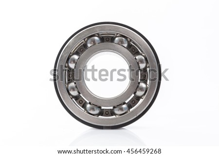 Detailed bearings set production isolated on white background