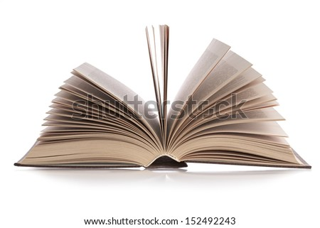 detailed book on a white background, isolated
