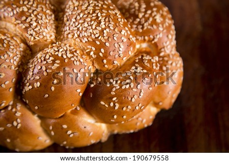 Detailed braided challah - stock photo