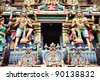 Detailed Carving of Kapaleeshwar Temple, Chennai, India - stock photo